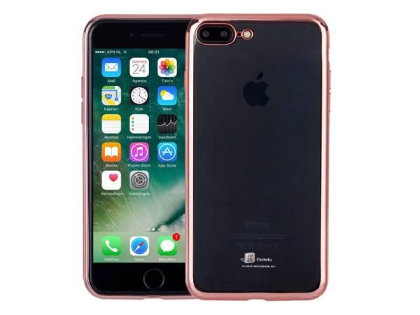 Ultradun iPhone 8/7 Plus Bumper Case Hoesje Siliconen Rose Goud