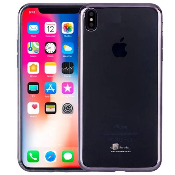 Ultra Dunne iPhone X Hoesje Bumper Case Siliconen Zwart
