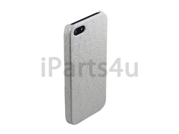 Krokodil Hardcover Snap Case iPhone 5/5S Croco Wit