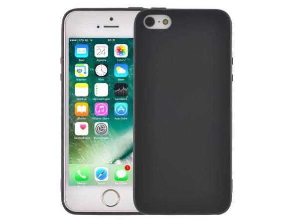 Elegant Ultradun iPhone SE/5S/5 Hoesje Siliconen Mat Zwart