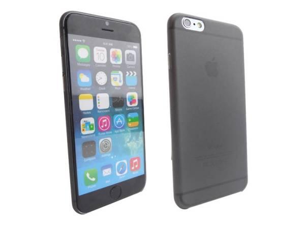 Ultra dunne premium Backcover Case iPhone 6 Zwart Transparant