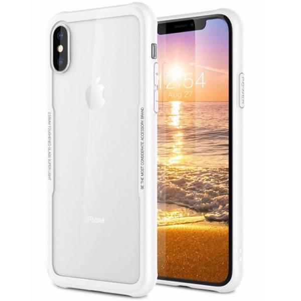 iPhone X Siliconen Case Rand Gehard Glas Achterkant Wit