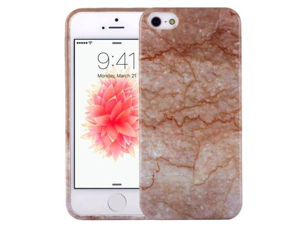 Marmer iPhone SE/5S/5 Hoesje Marble Taupe TPU