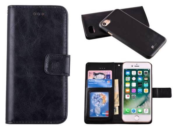 Uitneembaar 2 in 1 Bookcase Hoes iPhone 8 / 7 Zwart