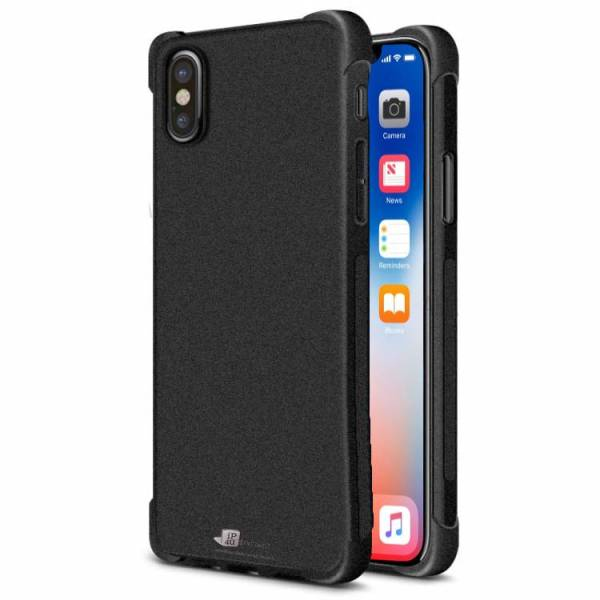 Shockproof Hoesje iPhone X Case Zwart Mat