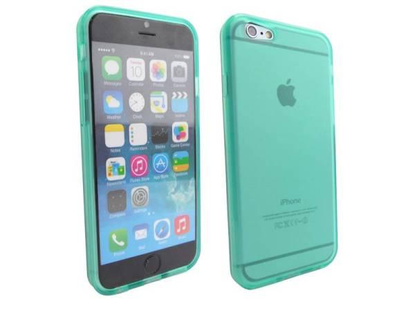 Siliconen Gel TPU iPhone 6 en 6S Hoesje Groen Mat Transparant
