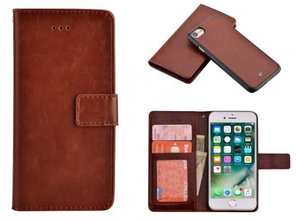 Uitneembaar 2 in 1 iPhone 8 / 7 Bookcase Hoes Bruin