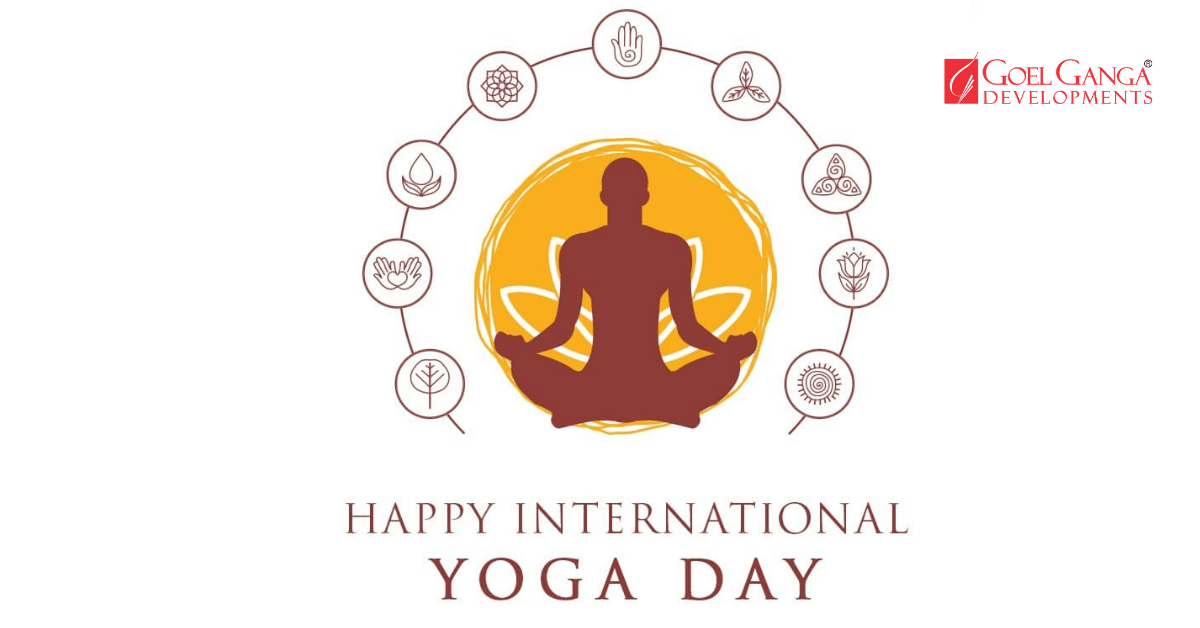 International Yoga Day Campaign 2020 By Goel Ganga Developments