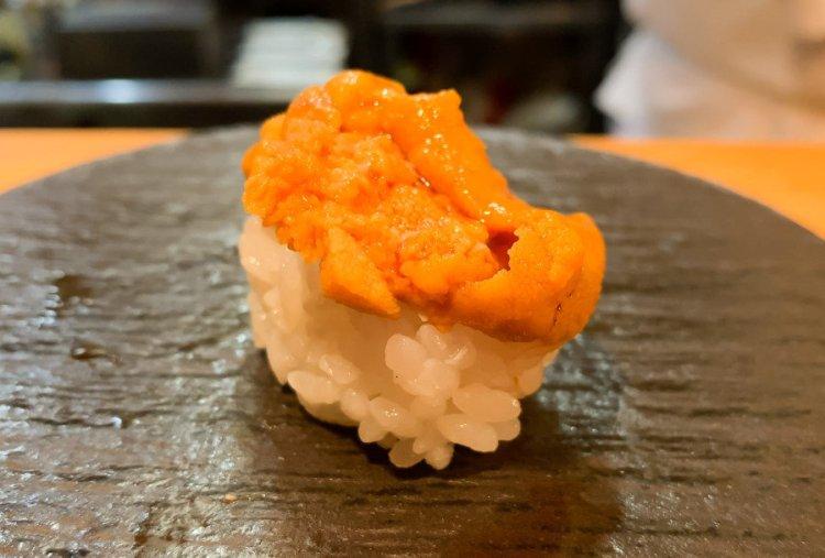 バフン雲丹の握り - まさる 大阪 鮨