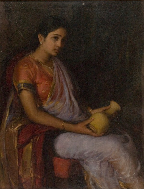Girl with Vase Painting