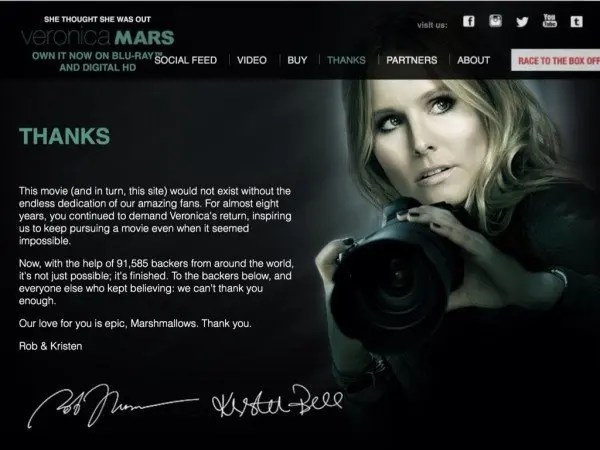 How to become a Hollywood Insider, my Veronica Mars and Wish I Was Here Kickstarter Story www.goepicurista.com