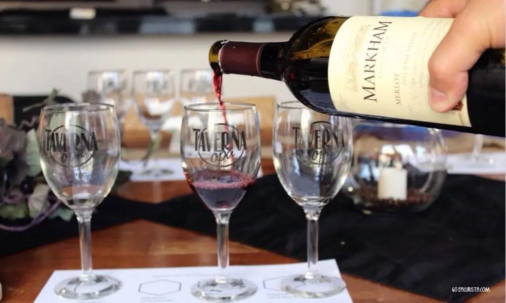 Taverna Opa Wine dinner with www.gooepicurista.com