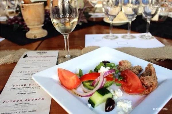 Taverna Opa Wine Dinner with www.goepicurista.com