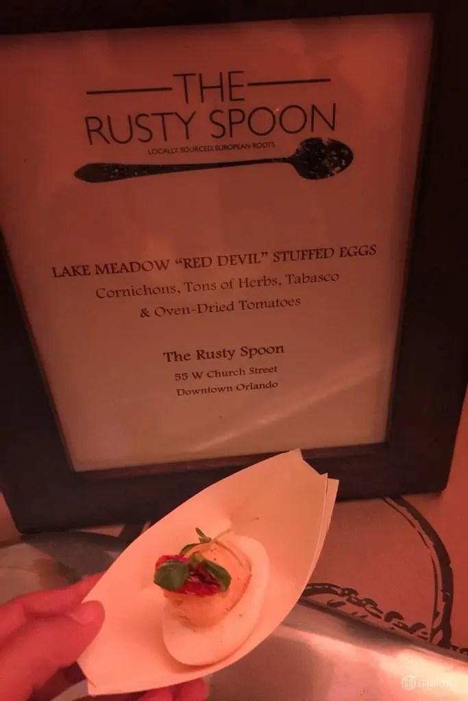 The Rusty Spoon Red Devil Deviled Eggs Recipe  with www.goepicurista.com