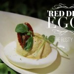 The Rusty Spoon Red Devil Deviled Eggs Recipe with www.goepicurista.com
