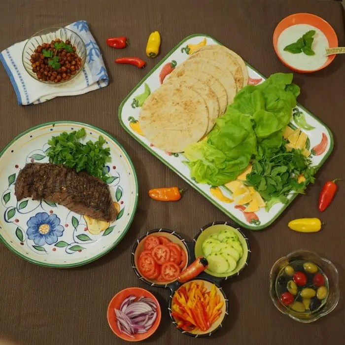 My Big Lean Beef Greek Wrap Recipe with GoEpicurista.com. Easy Entertaining Recipe perfect to feed a crowd a healthy and flavorful meal!