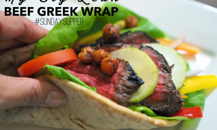 My Big Lean Beef Greek Wrap #SundaySupper