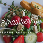 Pickled Strawberry Pepper Feta Salad