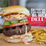 Dominican Chimichurri Burger Deluxe Recipe created by GoEpicurista.com as part of Girl Carnivore's #BurgerMonth Event