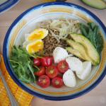 Savory Caprese Oatmeal Bowl #SundaySupper #JuneDairyMonth