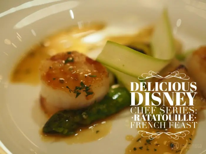 Epic Delicious Disney Chef Series, a one of a kind event that belongs on every Disney Foodie bucket list. Event Recap of The French Feast inspired by the film Ratatouille provided by GoEpicurista.com