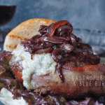 Gastropub Cab and Blue Burger with Wine Pairing