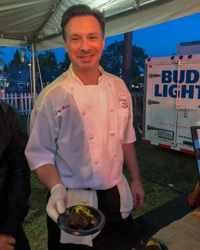Photo recap why every Foodie Loves Cows N Cabs Event in Orlando. Including Soco Thornton Park Chef Greg Richie