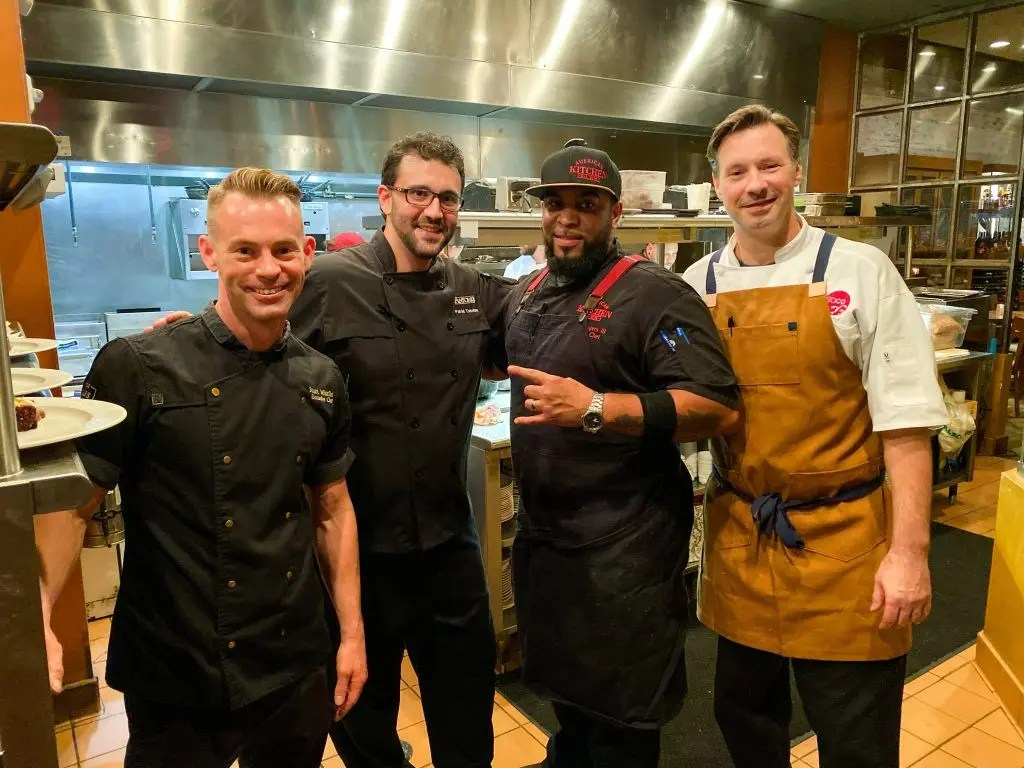 Soco 5 Year Anniversary Feast full of surprises. This Orlando neighborhood  restaurant wowed us with local chef collaboration. by Chef Greg Richie, Chef Stuart Whitfield, Chef Patrick Tramontana, Chef Venoy Rogers III and Mixologist PJ Smerechansky