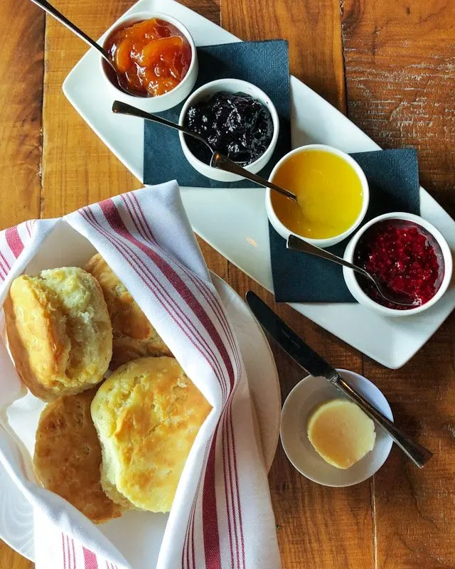 9 Tasty Reasons to Visit Soco in Orlando includes Must Eat Items on the menu of this popular Thornton Park neighborhood restaurant like these buttermilk biscuits