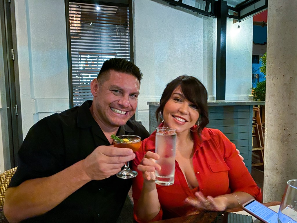 Jeff Bray and @OrlandoFoodieGirl Jesslyn Hernandez at Soco 5 Year Anniversary Dinner