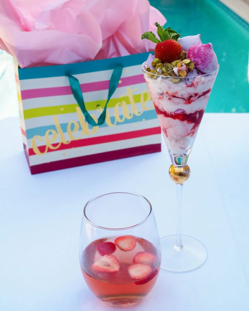 Berry Nutty Eton Mess easy recipe inspired by travel to Great Britain is perfect for Spring and Summer Celebrations. Pair it with CK Mondavi Spritzed Rose Moscato.
