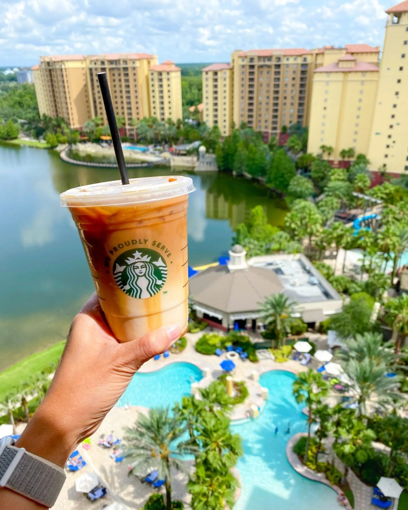 Starbucks. 29 Socially Distanced Fun Things To Do on Vacation at Wyndham Grand Orlando Resort Bonnet Creek