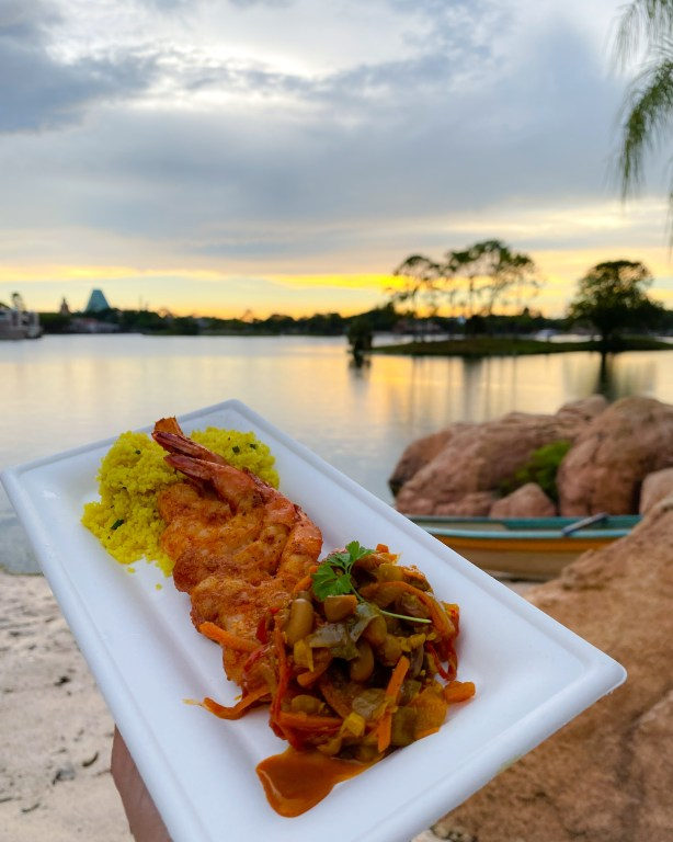 Taste of Epcot Food and Wine Festival guide Africa Shrimp