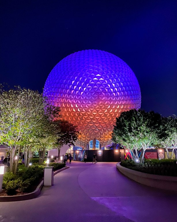Taste of Epcot Food and Wine Festival guide and Spaceship Earth