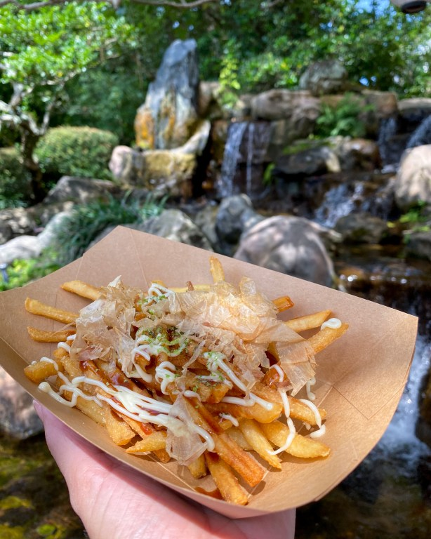 Taste of Epcot Food and Wine Festival guide Katsura Grill okonomiyaki fries