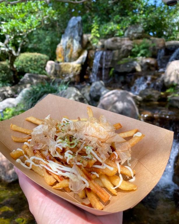 Taste of Epcot Food and Wine Festival guide Katsura Grill okonomiyaki fries