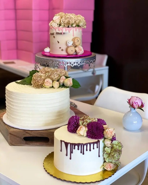 Decorated cakes.Get to know Sheila Norton of B Cupcakes in Orlando, support black owned businesses and add some sweet inspiration to your life with cakes of all sizes.