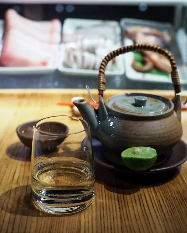 The soup course at Momokase Omakase dinner at Morimoto Asia in Disney Springs