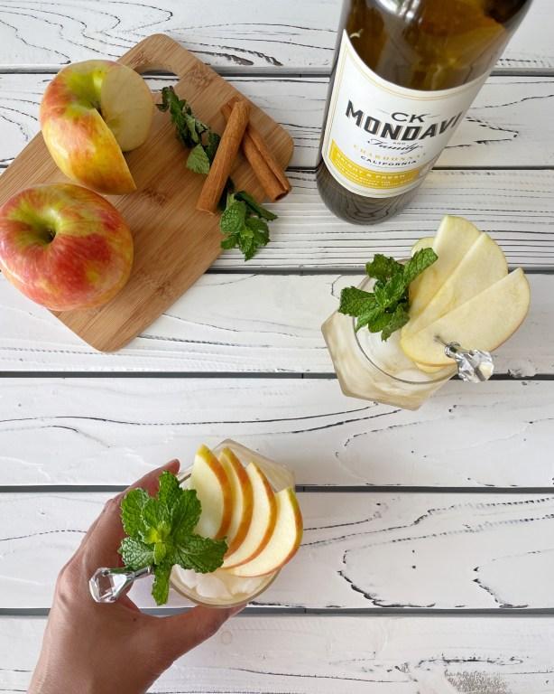 Toast the fall season with White Wine Apple Tiki Cocktail with CK Mondavi and Family Wines Chardonnay