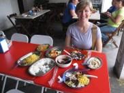 Huge Brazilian lunch in a favela