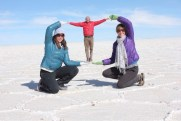 Eve & Allison Holding Wee Marvin at Uyuni Salt Flats