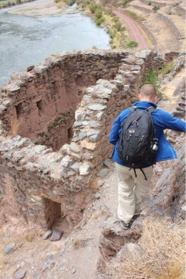 Ruins in Ollantaytambo, Peru in Sacred Valley