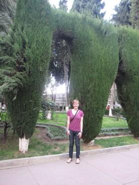Allison in cemetery in Sucre, Bolivia