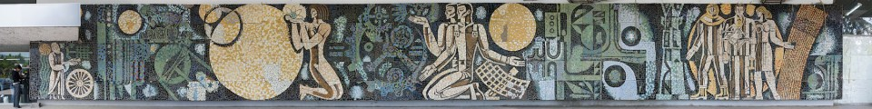 Wandmosaik auf dem Messegelände in Tiflis