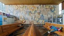 Wandmosaik im Busbahnhof; Kischinau