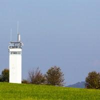 Beobachtungsturm der DDR-Grenzsicherungsanlagen gegenüber Point Alpha