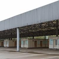 Abfertigungshalle der ehemaligen Grenzübergangsstelle Marienborn