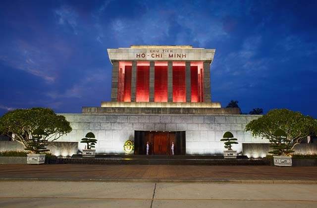 The Ho Chi Minh Mausoleum is the final resting place of Vietnamese Revolutionary leader Ho Chi Minh in Hanoi, Vietnam. (Hanoi Attractions)