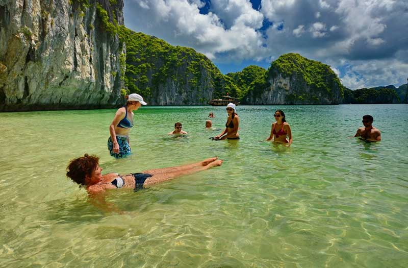 Ba Trai Dao Beach, Halong Bay, Vietnam (Halong Bay Attractions)