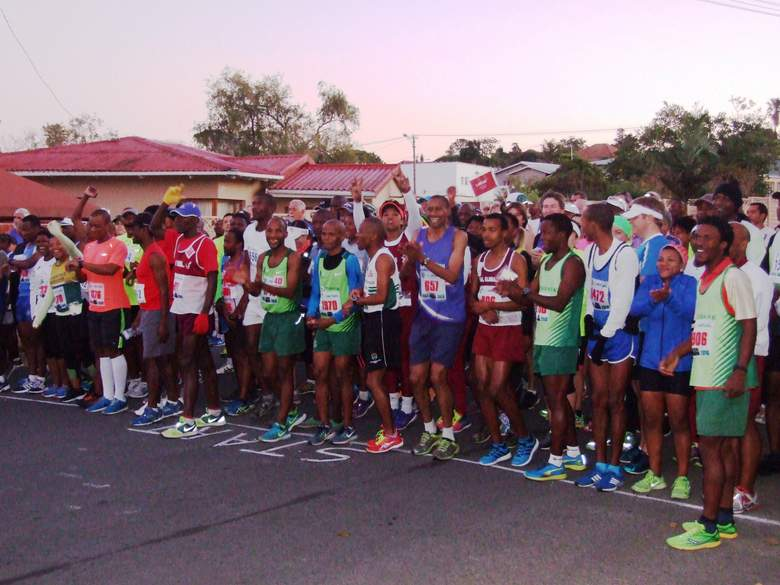DIFFERENT ROUTE: The  Trevor   Gee  10km, hosted by the East London Athletic Club, will be run on a different route this year, starting and ending at the Beacon Bay Country Club. Pictured is the start of the last 10km race from the East London Athletic Club in Cambridge